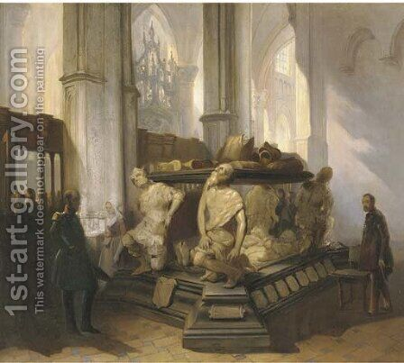 The Prinsenkapel at the Grote Kerk, Breda by Jan Wandelaar - Reproduction Oil Painting