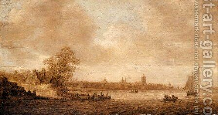Untitled 2 by Jan van Goyen - Reproduction Oil Painting