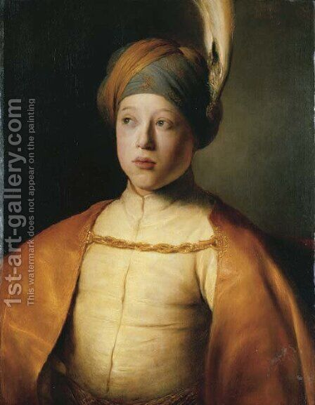 Portrait of a boy in Persian dress by Jan Lievens - Reproduction Oil Painting