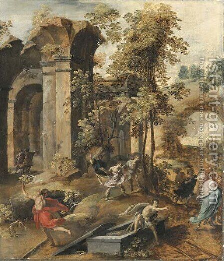 The Miracle at the Grave of Elisha by Jan Nagel - Reproduction Oil Painting