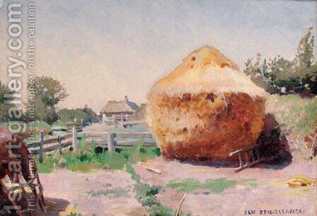 A haystack by Jan Stanislawski - Reproduction Oil Painting