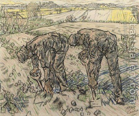 The Labourers by Jan Toorop - Reproduction Oil Painting