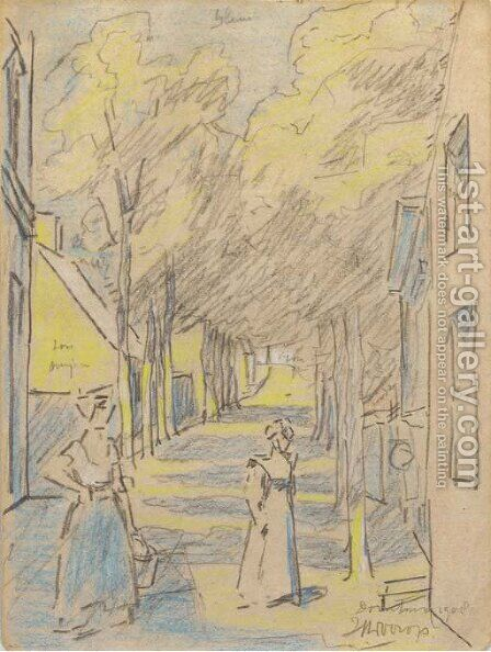 Village street, Domburg by Jan Toorop - Reproduction Oil Painting