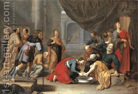 Christ washing the Disciples' feet by Jan Van Bijlert - Reproduction Oil Painting
