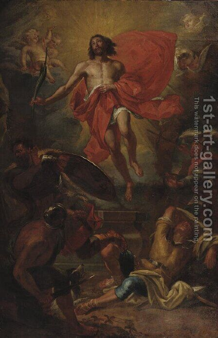 The Resurrection of Christ by Jan Van Cleve III - Reproduction Oil Painting