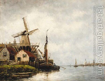 On the Spaaren by Jan van Vlaardingen Couver - Reproduction Oil Painting