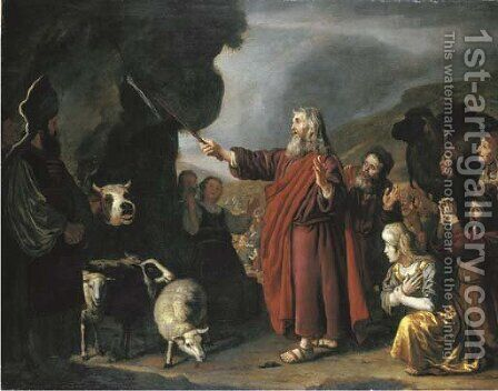 Moses Striking the Rock by Jan Victors - Reproduction Oil Painting