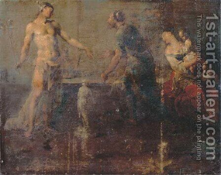 Mercury in the sculptor's studio by Januarius Zick - Reproduction Oil Painting