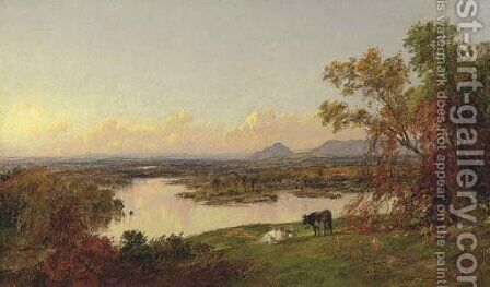 Mounts Adam and Eve, Orange County, New York by Jasper Francis Cropsey - Reproduction Oil Painting