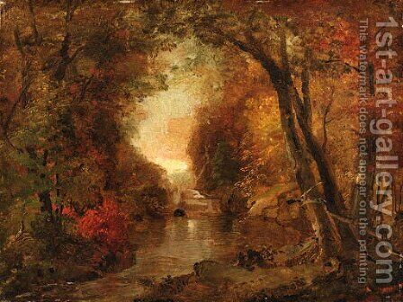 Autumn Scene by Jasper Francis Cropsey - Reproduction Oil Painting