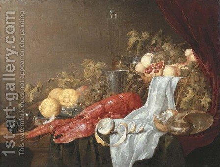 A pronk still life of a roemer by Jasper Geeraerts - Reproduction Oil Painting