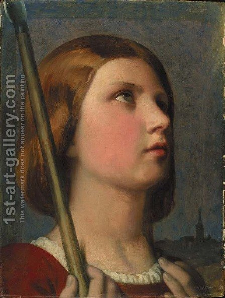 Tete de Jeanne d'Arc en extase by Jean Auguste Dominique Ingres - Reproduction Oil Painting