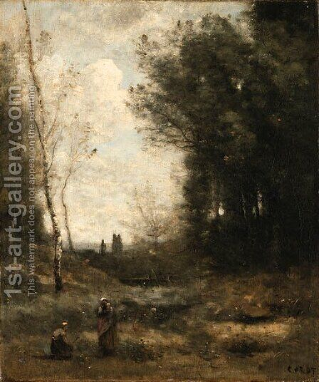 Le Vallon by Jean-Baptiste-Camille Corot - Reproduction Oil Painting