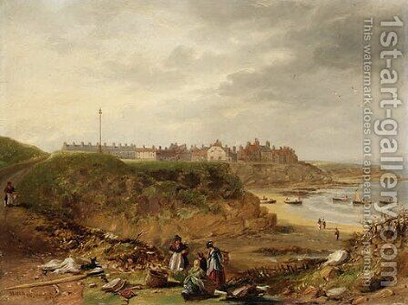 Cullercoats from the South by James Wilson Carmichael - Reproduction Oil Painting