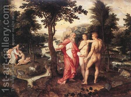 Garden Of Eden by Jacob De Backer - Reproduction Oil Painting