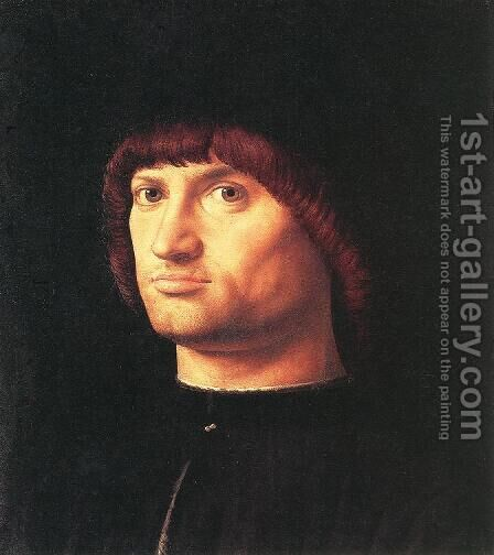 Portrait Of A Man (Il Condottiere) by Antonello da Messina Messina - Reproduction Oil Painting