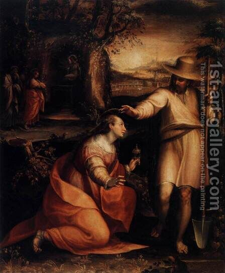 Jesus Appears to Mary Magdalene 1581 by Lavinia Fontana - Reproduction Oil Painting