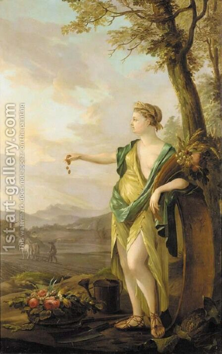 An allegory of fruitful labour by Angelica Kauffmann - Reproduction Oil Painting
