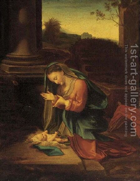 The Madonna and Child by Correggio (Antonio Allegri) - Reproduction Oil Painting