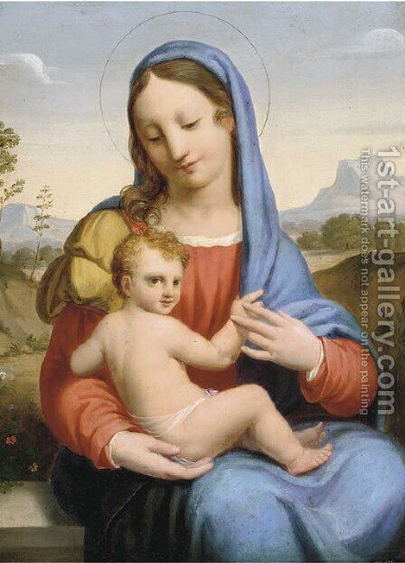 The Madonna and Child 2 by Correggio (Antonio Allegri) - Reproduction Oil Painting