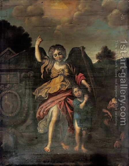 An infant and angel by Bartolomeo Schedoni - Reproduction Oil Painting