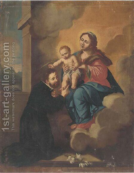 Saint Francis Xavier with a vision of the Virgin and Child by Bartolome Esteban Murillo - Reproduction Oil Painting