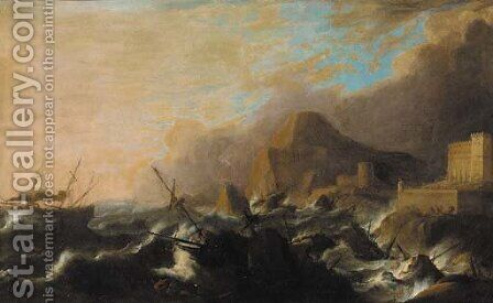 The maelstrom by (after) Bonaventura Peeters - Reproduction Oil Painting