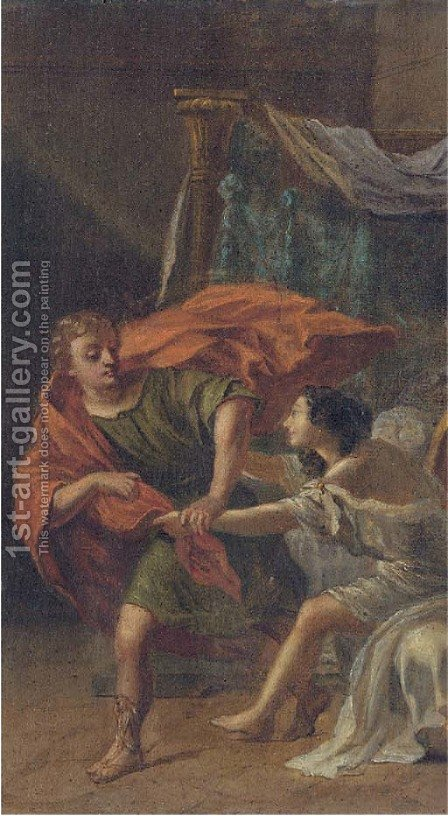 Joseph and Potiphar's wife by (after) Camillo Procaccini - Reproduction Oil Painting