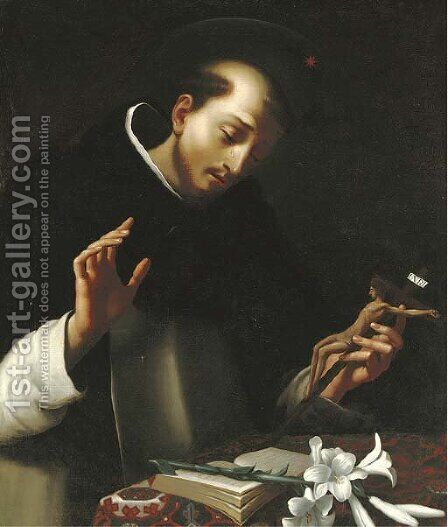 The Penitent Saint Dominic by (after) Carlo Dolci - Reproduction Oil Painting