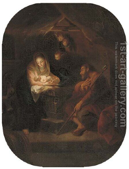 The Holy Family 3 by (after) Carlo Maratta Or Maratti - Reproduction Oil Painting