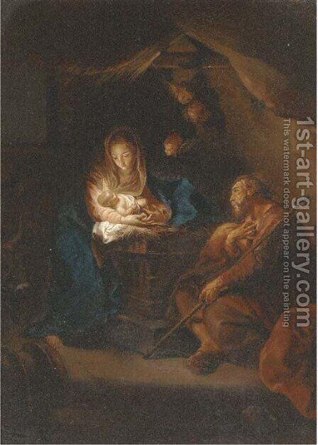 The Holy Family 4 by (after) Carlo Maratta Or Maratti - Reproduction Oil Painting