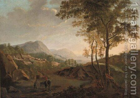 Stopping for directions along the way by (after) Claude Lorrain - Reproduction Oil Painting