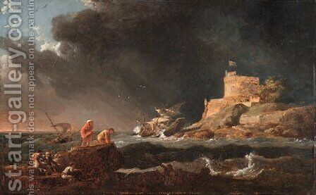 Untitled by (after) Claude-Joseph Vernet - Reproduction Oil Painting