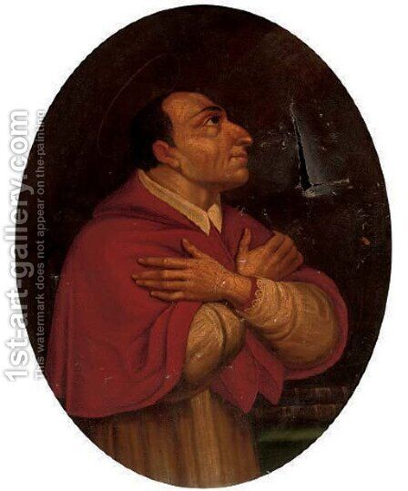 Saint Charles Borromeo by Daniele Crespi - Reproduction Oil Painting