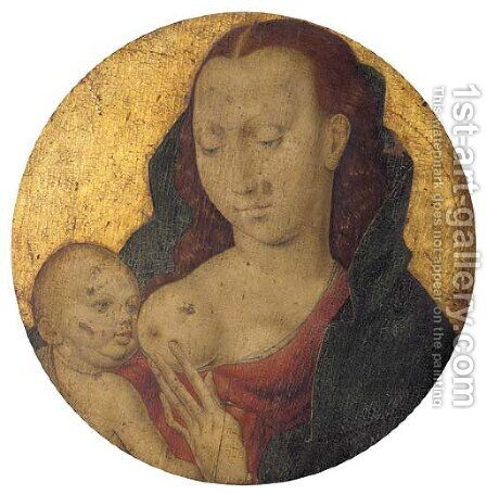 The Virgin and Child 2 by Dieric the Elder Bouts - Reproduction Oil Painting