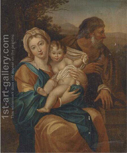 The Holy Family by (after) Domenichino (Domenico Zampieri) - Reproduction Oil Painting