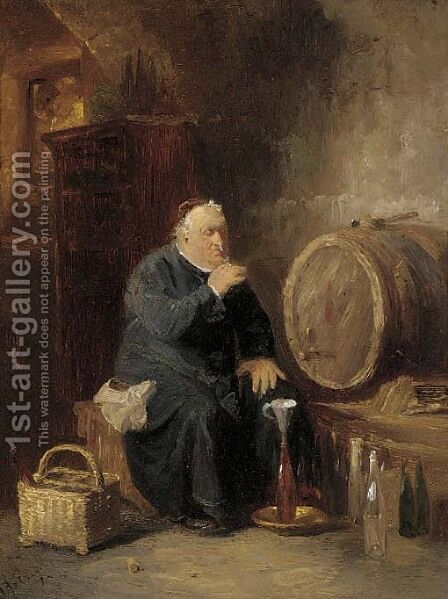 Sampling the brew by Eduard Von Grutzner - Reproduction Oil Painting