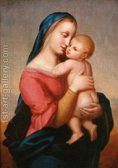 The Madonna and Child by (after) Erasmus Quellinus I - Reproduction Oil Painting