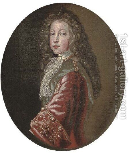 Portrait of James Francis Edward Stuart, Prince of Wales, the Old Pretender (1688-1766) by (after) Francois De Troy - Reproduction Oil Painting