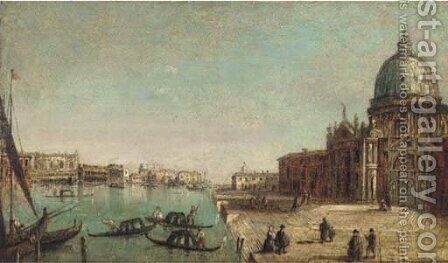 On the Grand Canal by (after) Francesco Guardi - Reproduction Oil Painting