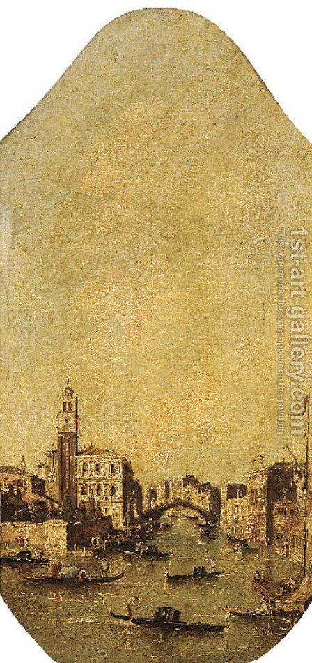 The Canareggio, Venice by (after) Francesco Guardi - Reproduction Oil Painting