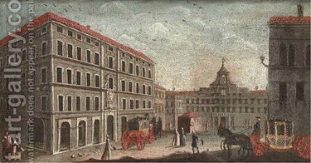 The Palazzo Montecitorio, Rome by (after) Francesco Tironi - Reproduction Oil Painting