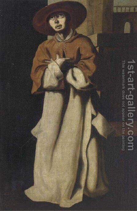 Cardinal Niccola Albergati by (after) Francisco De Zurbaran - Reproduction Oil Painting