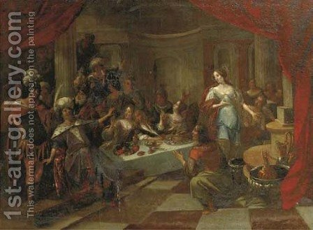 Belshazzar's Feast 6 by (after) Frans II Francken - Reproduction Oil Painting