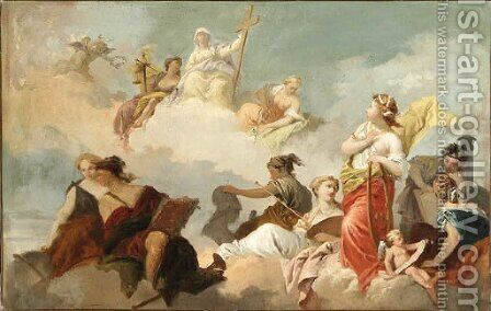 An Allegory of the Arts, Sciences and Faith by (after) Gerard De Lairesse - Reproduction Oil Painting