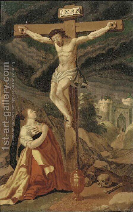 The Crucifixion by (after) Gillis Mostaert - Reproduction Oil Painting