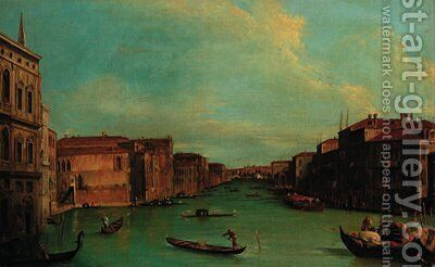 The Grand Canal, Venice with Palazzo Balbi by (Giovanni Antonio Canal) Canaletto - Reproduction Oil Painting