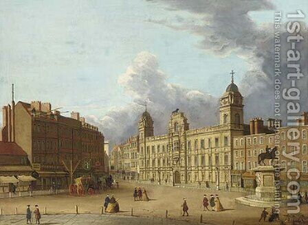 Old Northumberland House by (Giovanni Antonio Canal) Canaletto - Reproduction Oil Painting