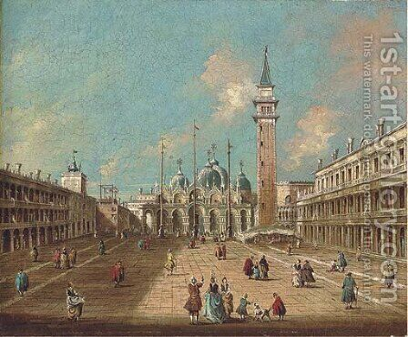 St. Mark's Square, Venice by (Giovanni Antonio Canal) Canaletto - Reproduction Oil Painting