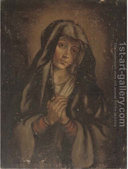 The Virgin at prayer by (after) Giovanni Battiata Salvi, Il Sassoferrato - Reproduction Oil Painting